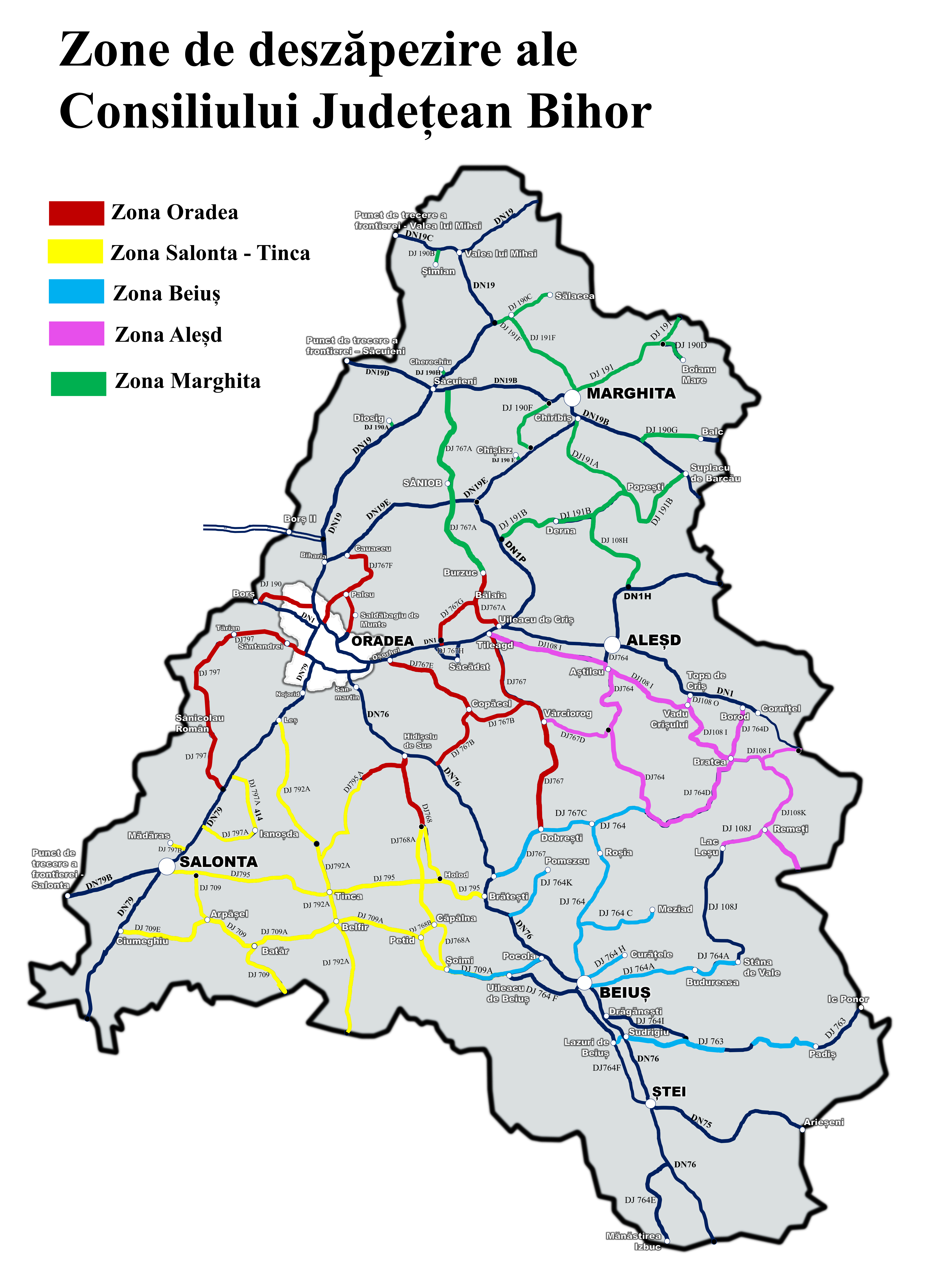 Zone deszapezire Bihor
