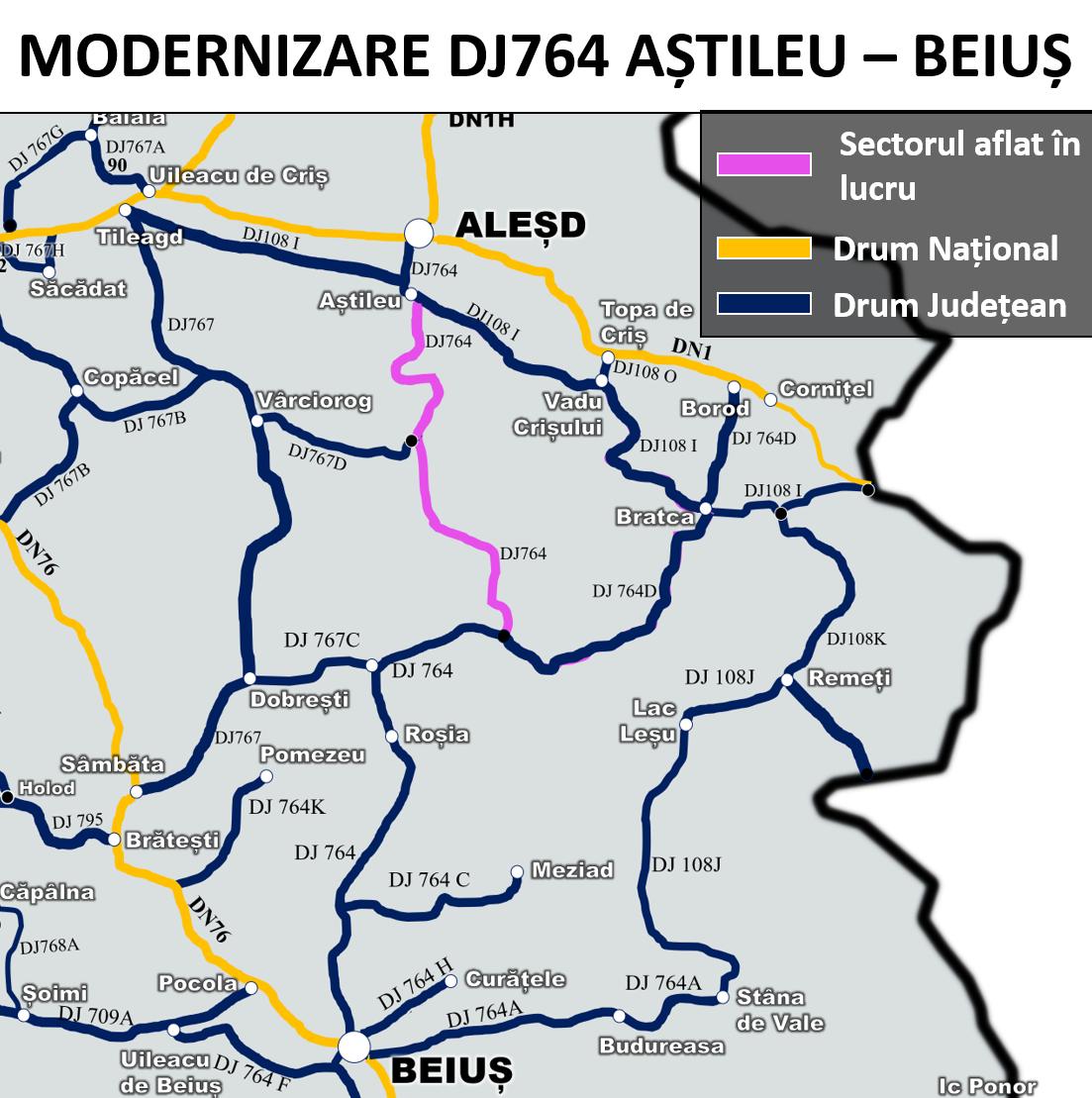 DN764 Astileu Beius