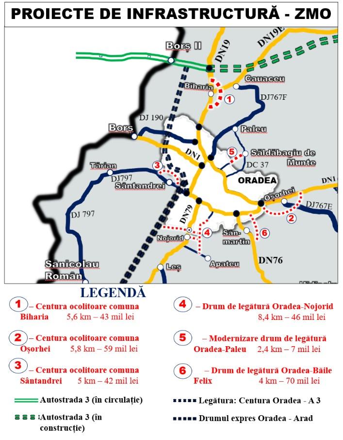 Harta drumuri ZMO